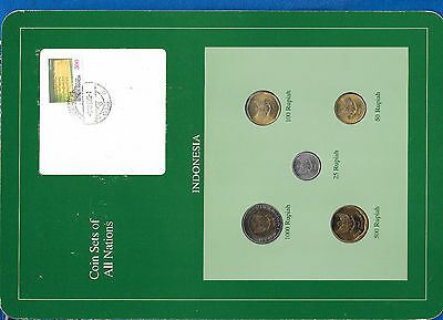 Coin Sets of All Nations Indonesia 1992-1995 UNC 100,1000 Rupiah 1995 RARE SET