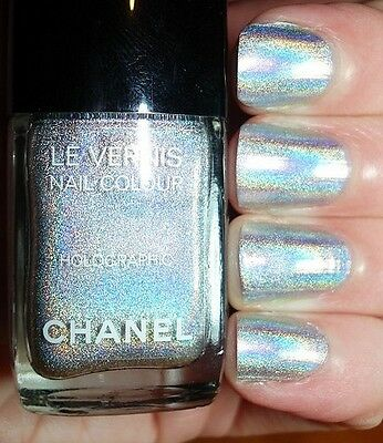 CHANEL LE VERNIS Nail Polish DUO PLATINUM HOLOGRAPHIC with Fixing ...