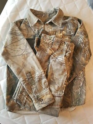 """Redhead silent hide """"REALTREE"""" boys size M pants and shirt"""