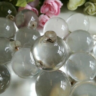 Clear spherical glass chandelier drops 3.5cm diameter