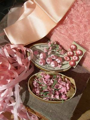 Project bundle for dolls fairies - tiny flowers, silk buttons, tulle, ribbons (a