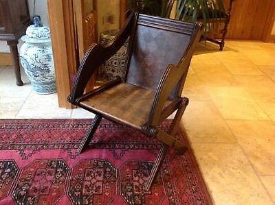 ARTS & CRAFTS OAK GLASTONBURY CHAIR Gothic Victorian Antique c1900