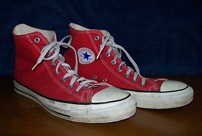 Vintage Converse Chuck Taylor All Star Red High Top Sneakers-Size 12-USA Made