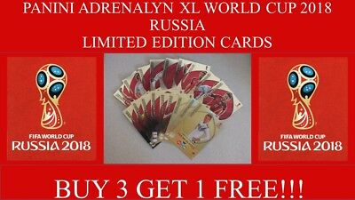 Panini Adrenalyn XL World Cup 2018 Limited Edition Cards