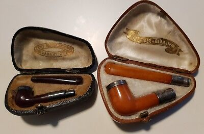 Antik Bernstein Pfeife Cherry Amber Butterscotch Cigarette Holder Pipe
