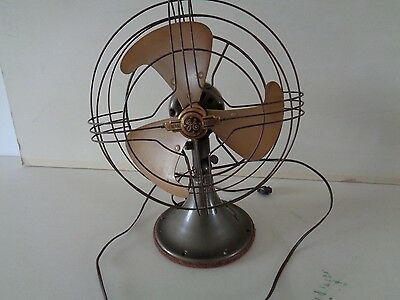 Vintage General Electric Vortalex 3-Blade Art Deco Fan (Cat.#2A003)