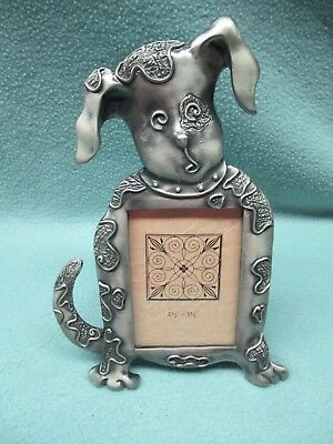 Pewter Dog Picture Frame Animals Dogs Cats Desktop Pet Supplies Home Decor