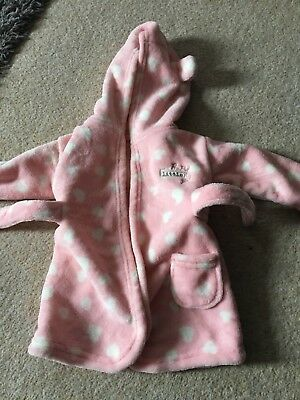 Baby Girls Dressing Gown Size 3-6 Months