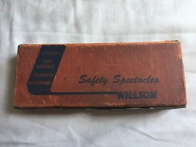 Vintage Willson Safety Glasses With Original Box 1940's
