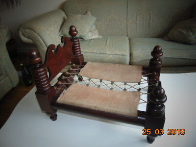 Georgian Mahogany Apprentice Miniature Bed Outstanding Quality( Dolls Bed )