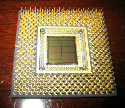 .76oz. Gold Unfinished Processor CPU Chip Package, Mechanical Sample