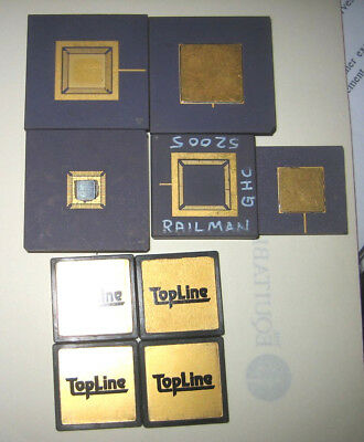 2.66oz. Lot of Gold Unfinished Processor Chip Packages, Mechanical Samples, CPU