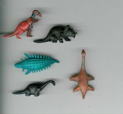 5 Nabisco Cereal Premiums 1950's Dinosaurs