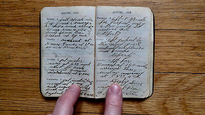 Circa 1918 Handwritten Diary Ww I Us Navy Convoy Ship Mines German Submarines