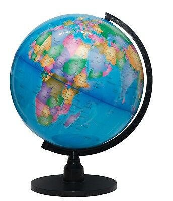 """The Flower of Life World Globe - 12.6"""" 32cm Large Desktop Atlas with Stand"""