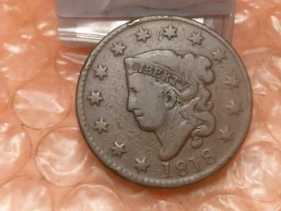 1818 Coronet Matron Head large Cent Clear Date #2