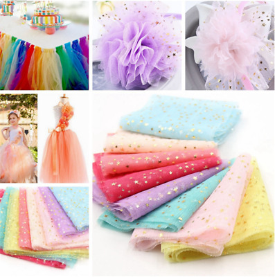 5M Glitter Sequin Tulle Crystal Organza Gauze Element Wedding Party Table Decor
