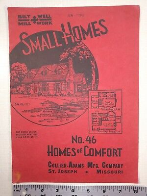 Small Homes - Bilt Well Millwork - c.1930's House Plans Architecture