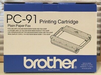 Brother Pc-91 Fax Print Cartridge Fax-900/950M/980M/1500M/1000P New Oem