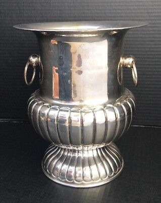 """STERLING SILVER 925 Large Champagne Ice Bucket Ornate 10"""" H Mexico 3 lbs Silver"""