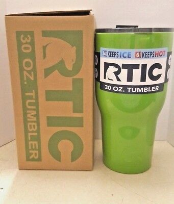 NEW 2017 RTIC 30 oz. Tumbler Cup -- Green color -- Cold Hot Drinks Travel Mug