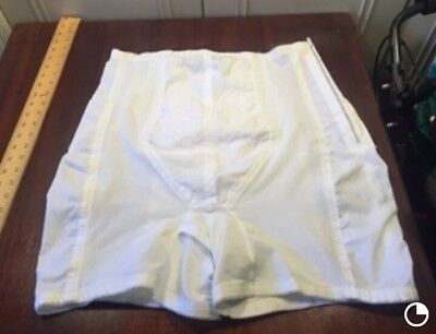 VINTAGE Rago white High Waist Long Leg open gusset crotch OB Panty Girdle sz 42