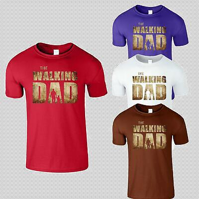 The Walking Dad Mens T-Shirt Prody Father Son Present  Funny Slogans T Shirt