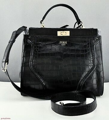2a57181be81c Brand New GuEsS Rare Collections Handbag Ladies Georgie Bag Black Satchel  Tote