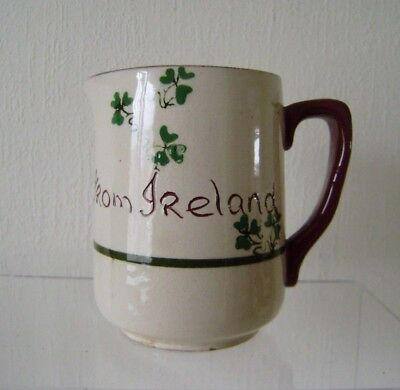 Vintage Carrig Ware Irish Pottery Souvenir Milk Jug Pot From Ireland 8.5 cm No 4