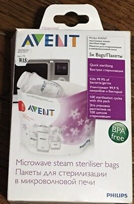 Philips AVENT Microwave Steam Sterilizer Bags BPA-Free Shipping (NEW!)