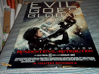 Resident Evil:retibution 2012 Original  1Sh Movie Poster 27X40 Ds