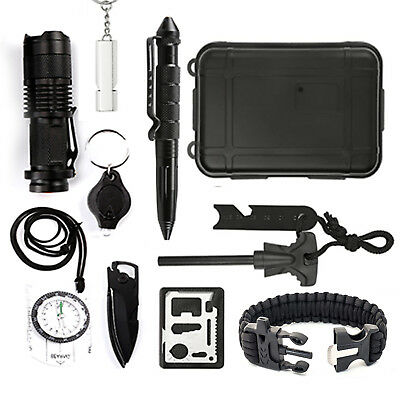 12 in 1 Selbsthilfe Außen Survival Kit Set Notfall Self Help Sport Camp