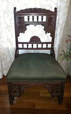Carved Antique Prayer Chair