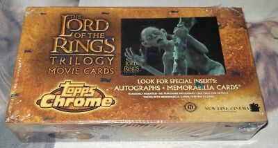 Topps The LORDS Of The RINGS TRILOGY Movie Cards Trading Cards BOX