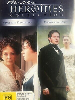 WIVES & DAUGHTERS / NORTH & SOUTH - Heroes & Heroines Collection 4 x DVD SetBBC