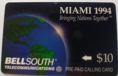 Miami 1994, BellSouth Telecommunication Pre Paid Calling Card                (A)