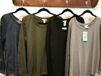 wholesale womans shirt lot, Honey & Lace brand, Avalon shirt with Lace sleeves
