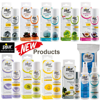 Pjur Med Lubricant Water Based Lube Silicone Delay Spray Repair Glide