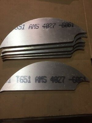8 Pounds T651 Plate Aluminum .375 Thick Scrap 6061 T6 Art Craft 6 Pieces