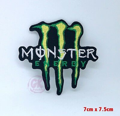 Monster Energy Drink Motocross Logo Iron on Sew on Embroidered Patch UK Seller