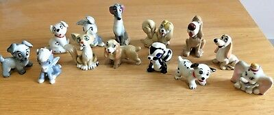 Wade Disney Figures Job Lot Collection Of 13 Lady & The Tramp 101 Dalmatians Etc