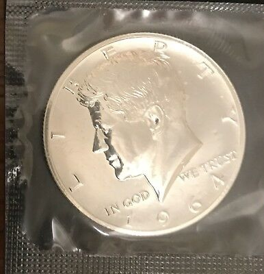 1964 JFK KENNEDY PROOF 90% Silver Half Dollar Sealed In Cello!