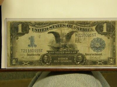 Circulated 1899 Black Eagle $1 Silver Certificate Large Size Currency Note
