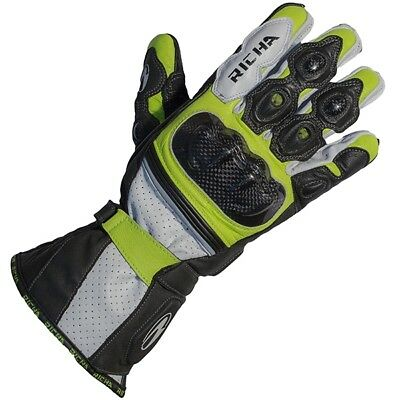 Richa Ravine Sports Leather Motorcycle Gloves - Fluo