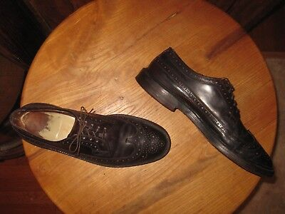 Vintage     Shell  Cordovan      Wing Tip  Shoes      Mens  10  Narrow