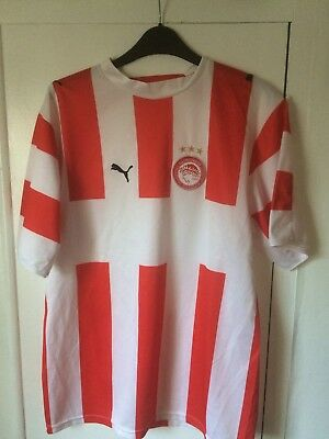 2006/2007 Olympiakos home football shirt Puma Greek Greece small men's