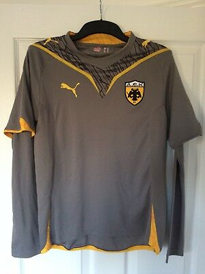 2009/2010 AEK Athens away 3rd football shirt Puma Greek Greece small men's