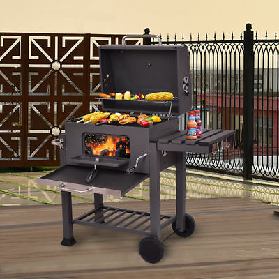 Barbecue Grill Outdoor Charcoal Portable Wheels