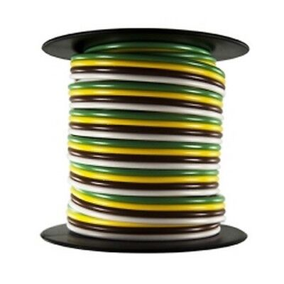 Trailer Wire Bonded-Rated 80C 16AWG 4-Way, 25Ft JTT2522F Brand New!