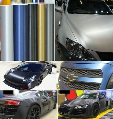 Metallic Brushed ALUMINUM Steel Vinyl Car Wrap Film Sticker Air/Bubble Free